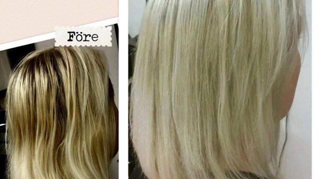 Före/Efterbild på blondin och så Beatrices favoriter just nu…